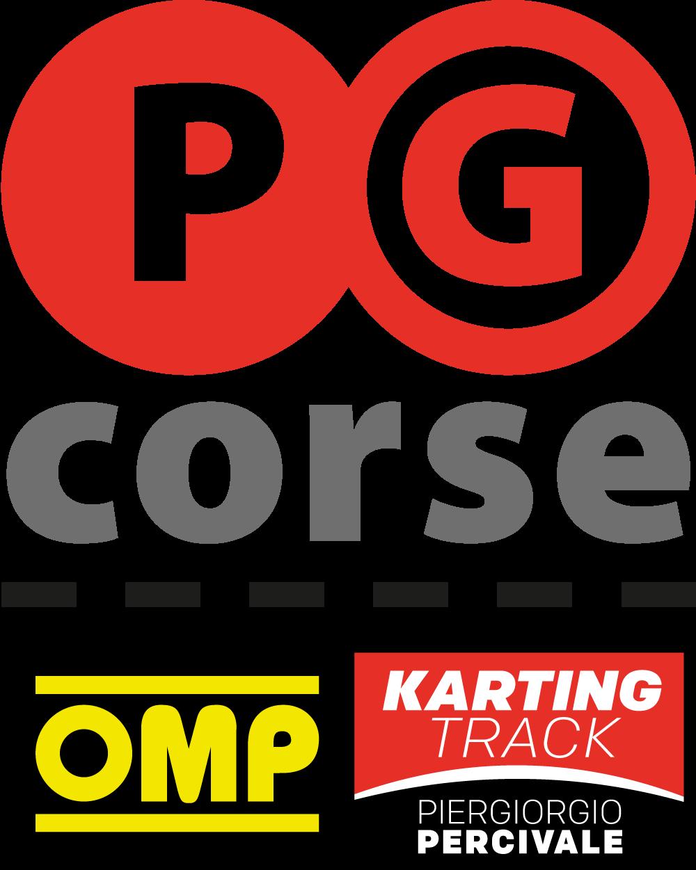 Logo PG Corse Pista Ronco Scrivia Kart OMP